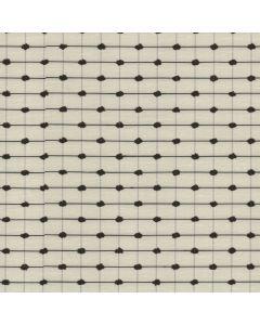 Delvin Fabric, Ivory Black