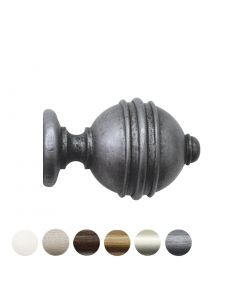 Handcrafted Florentine 48mm Pole Ribbed Ball Finial