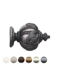 Handcrafted Florentine 48mm Pole Rope Finial