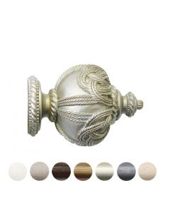 Handcrafted Grande 63mm Pole Rope Finial