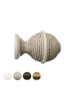 Handcrafted Hardwick 40mm Pole Woven Rope Finial