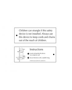 H700CSDWC H700 Chain Safety Device Warning Card