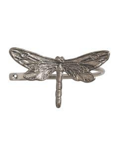 Ecuador, Dragonfly Holdback, Antique Silver