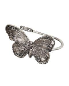 Ecuador, Butterfly Holdback, Antique Silver