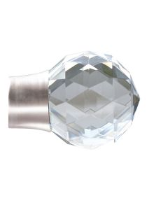 Cosmos 28mm Contract, Quartz Faceted Finial, Matt Nickel, Pack of 24