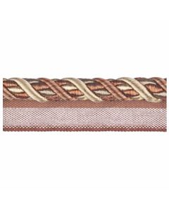 Florentine Flanged Cord, Terracotta