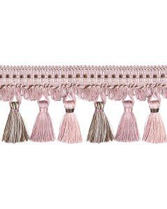 Florentine Tassel Fringe, Chalk Pink