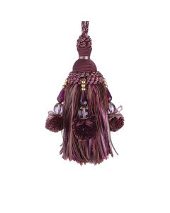 Interlude Key Tassel, Aubergine