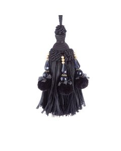Interlude Key Tassel, Black