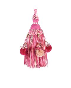 Interlude Key Tassel, Cerise
