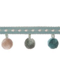 Belezza Pom Pom Fringe, Turquoise