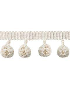Coastal Pom Pom Fringe, Cotton