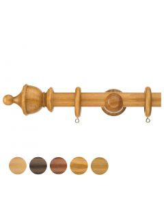 Swish Naturals 35mm Urn Finial Wood Pole Set