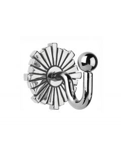 SWARTDCH Art Deco Hook, Chrome